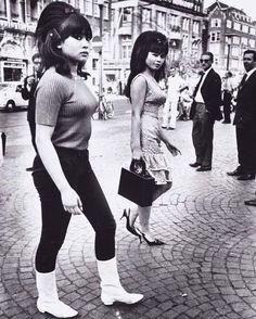 Dutch-Indonesian girls, Amsterdam, 1966.
