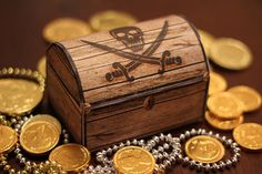 Pirate's Treasure Chest Box - Party Gift - DIY PRINTABLE FIile