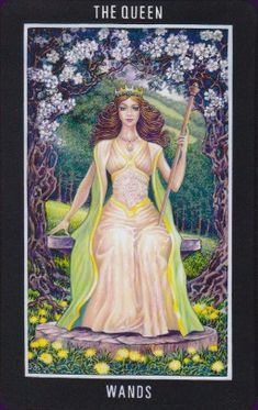 Queen of wands Sacred isle tarot