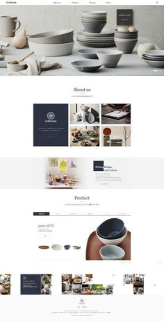 Clean, great use of whitespace and neutral tones #webdesigntutorial