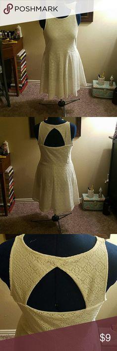 Cream lace dress Cute No Boundaries Dresses