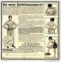 Original-Werbung/ Anzeige 1925 - FITNESS - GERÄT / PUNKT - ROLLER / BAGINSKI - BERLIN - ca. 130 x 130 mm