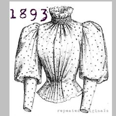 Blouse for 14 to 16 year old girl  Victorian by RepeatedOriginals