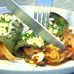 ¡Fácil y ligera! Si no comes carne, esta receta de Nopales rellenos de champiñones y queso manche Veggie Recipes, Mexican Food Recipes, Diet Recipes, Vegetarian Recipes, Cooking Recipes, Healthy Recipes, Cooking Pasta, Thai Recipes, Healthy Snacks