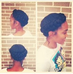 Natural hair updo