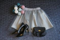 Grey mini handmade tulle skirt.  Order by message or visit my shop https://www.facebook.com/cheremyha.store