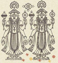Narnarayandev Hindu Symbols, Hindu Art, Art Drawings Sketches, Indian Paintings, Figure Painting, Line Drawing, Krishna, Figurative, Mythology