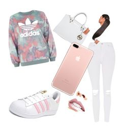 """""""How to wear adidas"""" by autumnsunday on Polyvore featuring Topshop, adidas, Michael Kors and Jouer"""