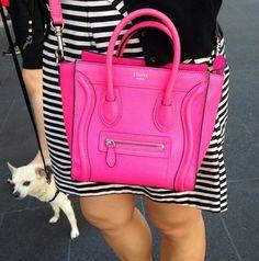 Neon pink Celine