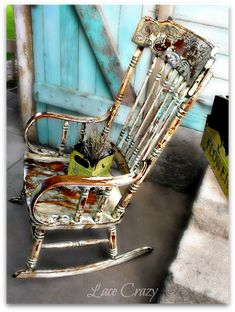 Gorgeous  Rocking Chair Redo~!