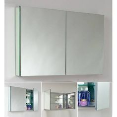 "Fresca FMC8010 40"" Double Door Frameless Medicine Cabinet with Mirrors"