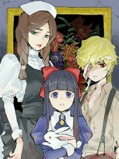 Maria, Aya, and Dio Rpg Maker, Maker Game, Aya Mad Father, Father Games, Cry Anime, Alice Mare, Scary Games, Corpse Party, Girls Anime