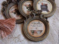Купить Медальоны-таблички на двери комнат - рамка, табличка, табличка на дверь, табличка на ванну