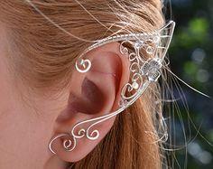 Elf Ears Ear Cuffs – Elf Ears – Boho Boho Freespirit Coachella Jewelry - Famous Last Words Ear Jewelry, Fine Jewelry, Jewelry Making, Skull Jewelry, Jewellery, Silver Jewelry, Ear Cuff Tutorial, Custom Jewelry, Handmade Jewelry