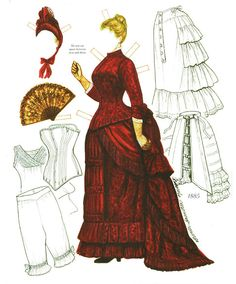 The Changing Shape of Fashion by Brenda Sneathen Mattoxby - Katerine Coss - Picasa Webalbum* 1500 free paper dolls at artist Arielle Gabriel's International Paper Doll Society also her new memoir The Goddess of Mercy & the Dept of Miracles playing with paper dolls in Montreal *