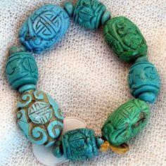 armband_01_003 Turquoise Bracelet, Bracelets, Jewelry, Semi Precious Beads, Handmade, Wristlets, Schmuck, Gifts, Jewlery