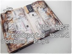 I absolutely LOVED this video! She shows how to make an altered book page with all free/scavenged non art product materials!! So simple and pretty!! Altered book Altered book page