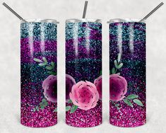 Free Silhouette Designs, Circuit Projects, Tumbler Designs, Tumbler Cups, Custom Tumblers, Floral Watercolor, Decal, Planters, Etsy Seller