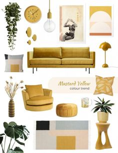 Mustard Yellow Decor items, the best ideas to shop online now Home Shopping Online Senfgelb Dekor und Möbel Mustard Yellow Decor, Yellow Home Decor, Interior Design Yellow, Interior Design Tips, Home Design, Interior Decorating, Design Blog, Moodboard Interior Design, Home Decor Trends
