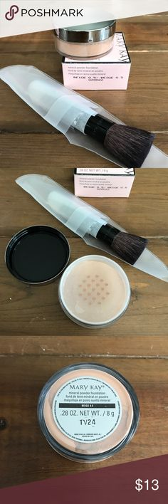 Mary Kay Mineral Foundation + Brush - Beige .5 Brand new in box Mary Kay Mineral foundation in Beige .5 with brand new Mary Kay Mineral foundation brush. Mary Kay Makeup Foundation