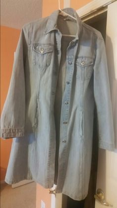 Old jeans jacket transformed in a vintage shabby