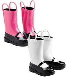 Mary Jane Rain Boots