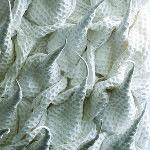"Detail of Hitomi Nagai's ""Birth"" (2011). Cotton; waffle weave. 79 × 43 × 11 in. (200 × 110 × 28 cm). Photo by  Mareo Suemasa."