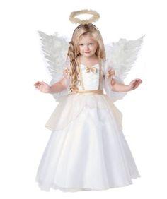 golden angel girls costume