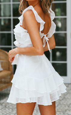 Gray Wedding Dress Women'S Clothing Boutique Winter Outfits White Lace Romper Dress – Brautfrisuren – Frisuren 2020 Elegant Dresses, Pretty Dresses, Casual Dresses, Short Dresses, Summer Dresses, Dresses Dresses, Kohls Dresses, White Dress Summer, Cheap Dresses