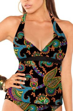 Aerin Rose 223C-TNGR Tangiers Shirred Halter Tankini Aerin Rose. $98.00. Accommodates 32-38 B/C, D/DD, and F/G cup sizes. Designed in NYC. nylon. Material 80% nylon, 20% spandex