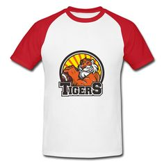 Mild Tiger Raglan T-shirt Printing-Animals & Nature  Clothing with 98% happy customers! Create custom shirts and personalized goods at HICustom,Use our online designer to add your design, logos, or text. easily!