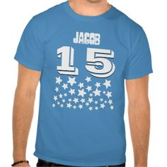 15th Birthday or ANY YEAR Burst of WHITE Stars B17 Tshirts #jaclinart #15th #15thBirthday #birthday #white #stars #tshirts