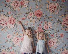 Papier peint fleuri pour chambre d'enfant - Boutique: anewalldecor, Etsy - La Fiancée du Panda blog Mariage et Lifestyle