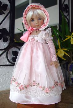 Regency, Jane Austen Gown fts Effner 13, Little Darling. LittleCharmersDollDsgns . SOLD for $168.00 on 1/17/15.