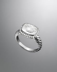 Noblesse Ring, White Topaz by David Yurman at Neiman Marcus.