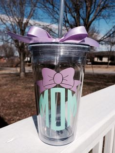 Circle Monogram Cup with Bow Preppy Southern Cup Mother's Day Gift Acrylic Tumbler 16 oz Personalized Monogram Cup Everything Else by CustomVinylbyBridge on Etsy https://www.etsy.com/listing/180662279/circle-monogram-cup-with-bow-preppy