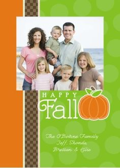 Happy Fall! Pumpkin Patch Photo Greeting