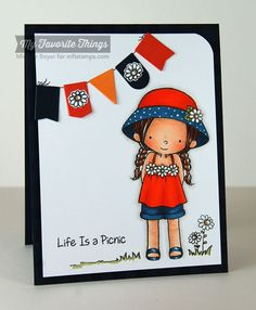 Every Day is a Picnic stamp set and Die-namics, Gingham Background, Blueprints 16 Die-namics - Michele Boyer #mftstamps