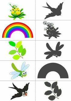 which one is my shadow Preschool Centers, Kindergarten Fun, Preschool Worksheets, Visual Perception Activities, Therapy Games, Smoker Cooking, Montessori Materials, Cute Illustration, Preschool Activities