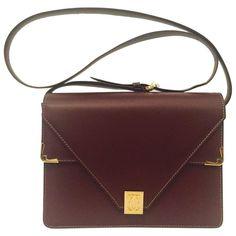 Classic Must de Cartier Calf Envelope Shoulder Double Flap Bag With GHW   1stdibs.com