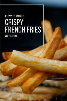 The Secret to Making Crispy French Fries at Home Make perfect, crispy french fries at home (without a deep fryer) Deep Fried French Fries, French Fries At Home, Perfect French Fries, Making French Fries, Air Fryer French Fries, French Fries Recipe, Deep Fried Fish, Home Fries, Homemade Fries