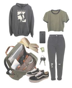 """""""College """" by ciassic ❤ liked on Polyvore featuring Topshop and Vans"""