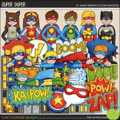 These are perfect for our superhero classroom theme!