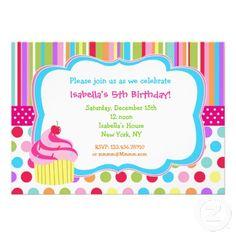Cupcake birthday party invitation wording awesome invitation rainbow cupcake birthday party invitations stopboris Image collections