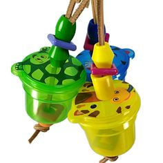 Knock About Foraging Cups for Pet Birds - Small Parrot Toy Caique