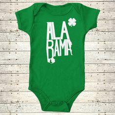 Alabama | St. Patrick's Day Stately Bodysuit by The Stately Shirt Co. by TheStatelyShirtCo