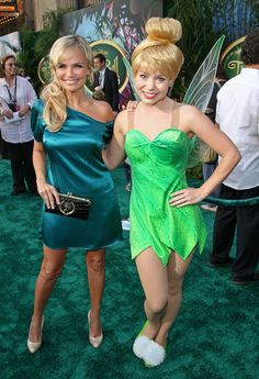 Inspiration for toddler Tinkerbell costume.