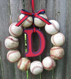 Detroit Tigers Baseball Love Wreath with wooden Old by 1BabyToes1, $45.00