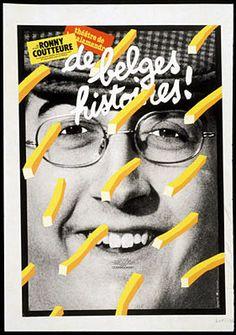 Théâtre de la Salamandre. « De belges histoires ! » de et par Ronny Coutteure. Co-production théâtre de la Salamandre et l'association pour le théâtre Love Design, Retro Design, Design Art, Typography Prints, Graphic Design Typography, Pierre Bernard, Graffiti, Book Posters, Graphic Posters