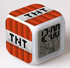 Alarm Clock with LED Cartoon Game Action Toy Figures Night Light Wekker Electronic Toys Relogio Despertador Digital Alarm Clock Minecraft Real Life, Minecraft Gifts, Minecraft Toys, Minecraft Pillow, Minecraft Light, Boys Minecraft Bedroom, Iphone Wallpaper Off White, Minecraft Merchandise, Minecraft Posters
